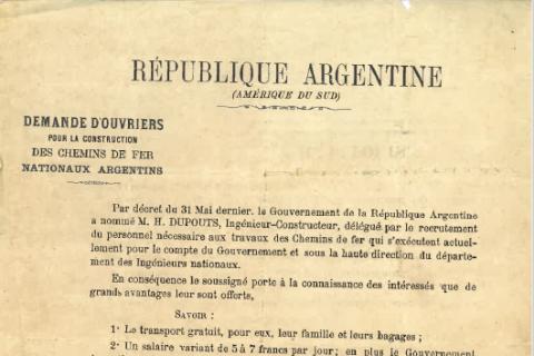 Les migrations européennes dans le monde : les Français en Argentine au début du XXème siècle